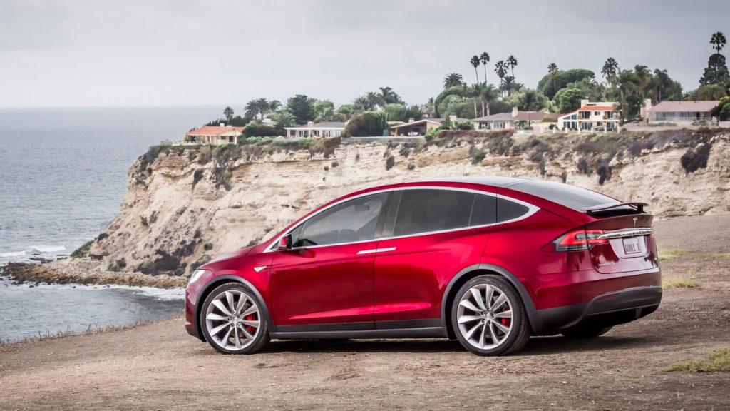Tesla model X vakantie